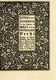 Cover of: Little journeys to the homes of great musicians: Verdi.