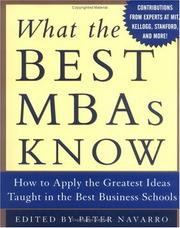 Cover of: What the Best MBAs Know