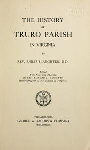 Cover of: The history of Truro Parish in Virginia