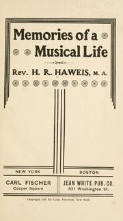 Cover of: Memories of a musical life