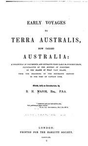 Cover of: Early voyages to Terra Australis, now called Australia