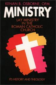 Cover of: Ministry: Lay Ministry in the Roman Catholic Church
