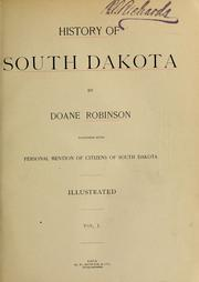 Cover of: History of South Dakota by Doane Robinson