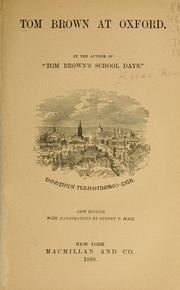 Cover of: Tom Brown at Oxford