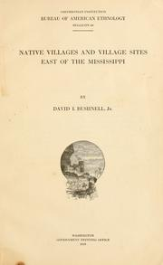 Cover of: Native villages and village sites east of the Mississippi