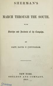 Cover of: Sherman's march through the South. | David Power Conyngham
