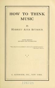 Cover of: How to think music