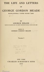 Cover of: The life and letters of George Gordon Meade