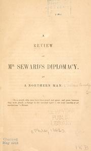 Cover of: A review of Mr. Seward's diplomacy