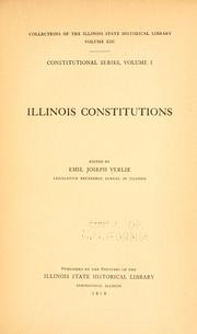 Cover of: Illinois constitutions