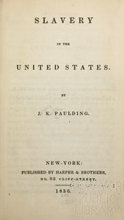 Cover of: Slavery in the United States