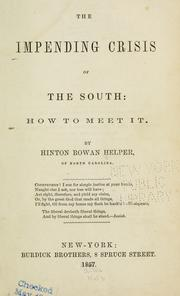 Cover of: The impending crisis of the South