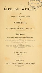 The life of Wesley by Robert Southey