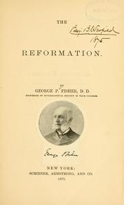 Cover of: The reformation