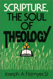 Scripture, the soul of theology