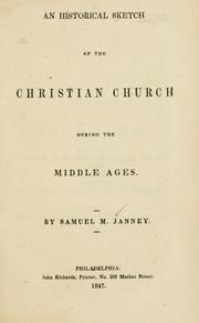 Cover of: An historical sketch of the Christian church during the Middle Ages