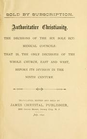 Authoritative Christianity by James Chrystal