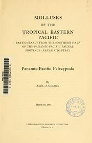 Cover of: Mollusks of the tropical eastern Pacific