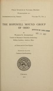 The Hopewell mound group of Ohio by Warren King Moorehead