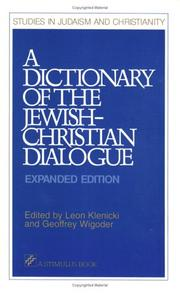 Cover of: dictionary of the Jewish-Christian dialogue |