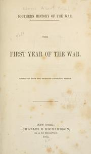The first year of the war by Edward Alfred Pollard
