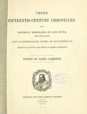 Cover of: Three fifteenth-century chronicles