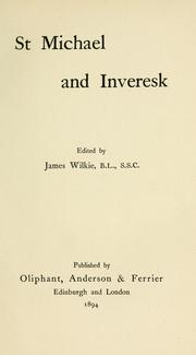 Cover of: St. Michael and Inveresk | edited by James Wilkie.