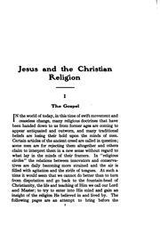 Cover of: Jesus and the Christian religion