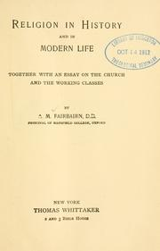 Religion in history and in modern life by A. M. Fairbairn