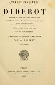 Cover of: Oeuvres Completes de Diderot
