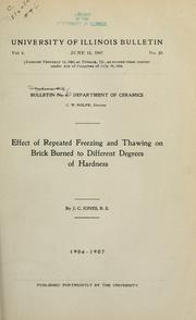 Cover of: Efflorescence of brick