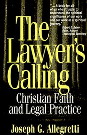 Cover of: The lawyer's calling