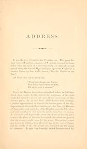 Cover of: Address delivered by Hon. James W. Wall, at Newark