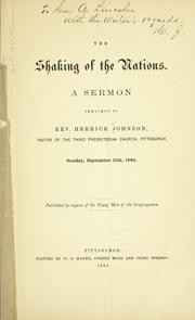 Cover of: The shaking of the nations