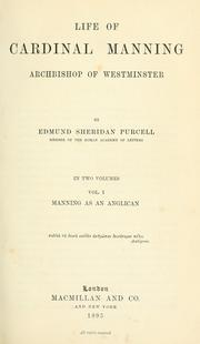 Life of Cardinal Manning, Archbishop of Westminster by Purcell, Edmund Sheridan