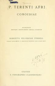 Cover of: Comoediae by Terence.