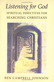 Cover of: Listening for God: spiritual directives for searching Christians