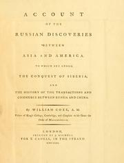 Account of the Russian discoveries between Asia and America by Coxe, William
