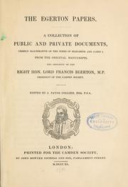 Cover of: The Egerton papers