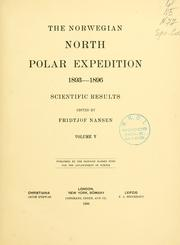 Cover of: The Norwegian North polar expedition, 1893-1896: scientific results