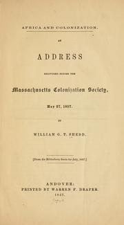 Cover of: Africa and colonization