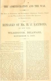 Cover of: The administration and the war
