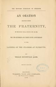 Cover of: The historic purchase of freedom