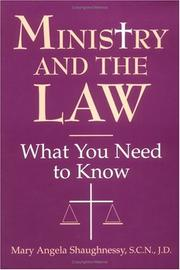 Cover of: Ministry and the law