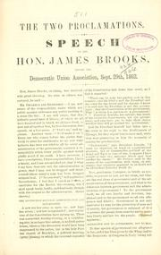Cover of: The two proclamations