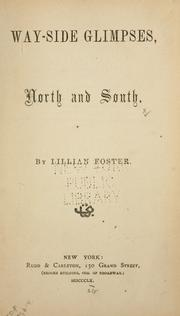 Way-side glimpses, north and south by Lillian Foster