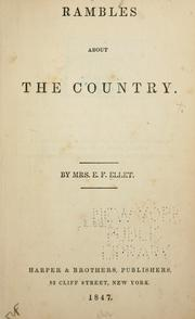 Cover of: Rambles about the country