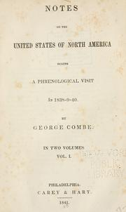 Cover of: Notes on the United States of North America