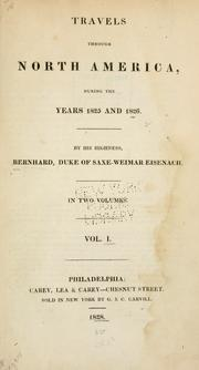 Cover of: Travels through North America, during the years 1825 and 1826