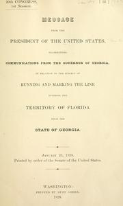 Cover of: Boundary line between Florida and Georgia